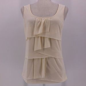 Talbots Off-White / Cream Tiered Tank Top Small